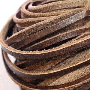 5 метров 3 мм x 2 мм черный/коричневый/кофейный/красный плоские натуральные кожаные украшения шнур шнурок DIY ожерелье браслет в поисках