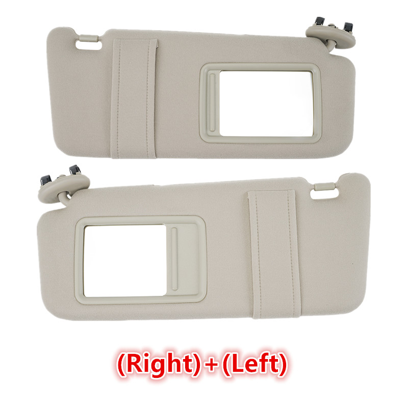 Left Right Side Sun Visor Tan Beige Fit For Toyota Camry 2007-2011 WithOut Sunroof PP plastic shell Fabric 74320-06780-E0(China)