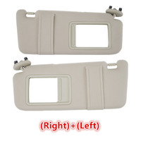 Left Right Side Sun Visor Tan Beige Fit For Toyota Camry 2007 2011 WithOut Sunroof PP plastic shell Fabric 74320 06780 E0