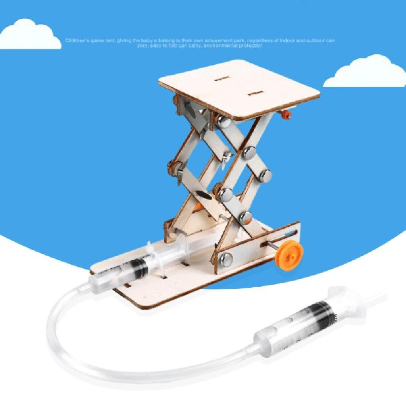 Creative Hydraulic Lift Table Materials DIY Physics Science Projects Teaching Equipment Educational Model Kit Plastic Experiment