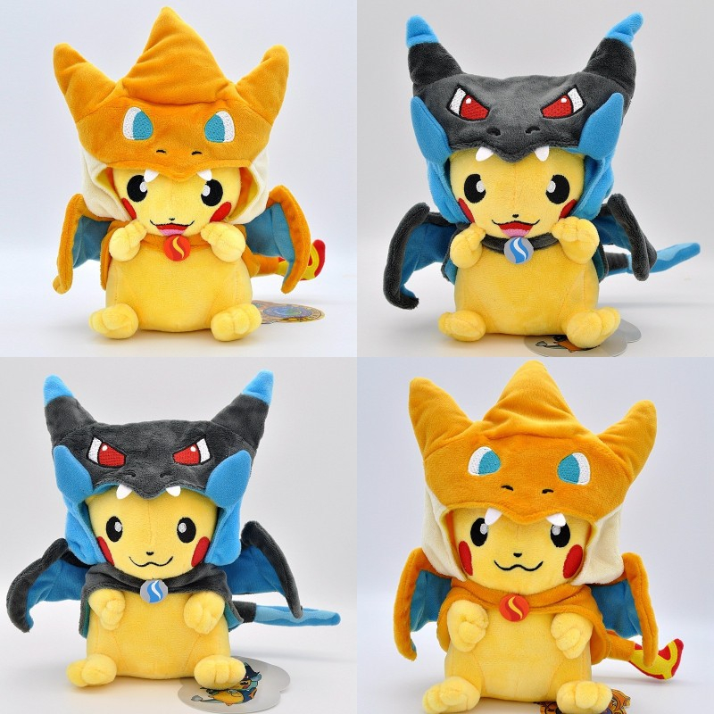 Pokemon Anime Plush Toy Pikachu Cosplay Charizard Cartoon Anime Plush Doll Children Kids Toy Birthday Gift 25cm