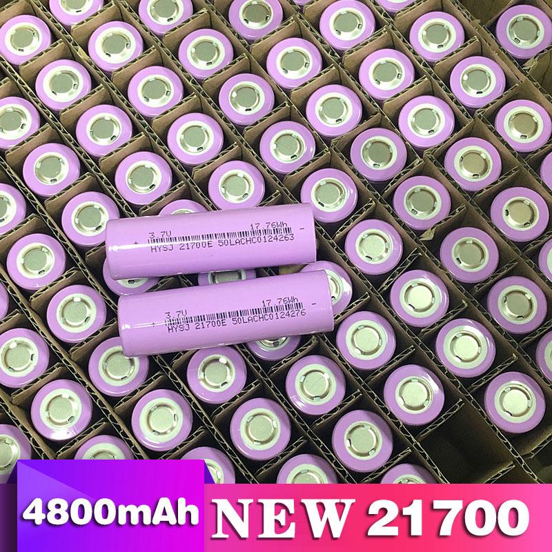 New 21700 lithium battery 4800mAh 3.7V power electric car battery for mobile power flashlight battery