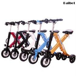 Daibot 3 koła skuter elektryczny Mini rowery elektryczne 10 Cal 350W 36V szybkie składane przenośne elektryczne rowery dorosłych kobiet w Rowery elektryczne od Sport i rozrywka na