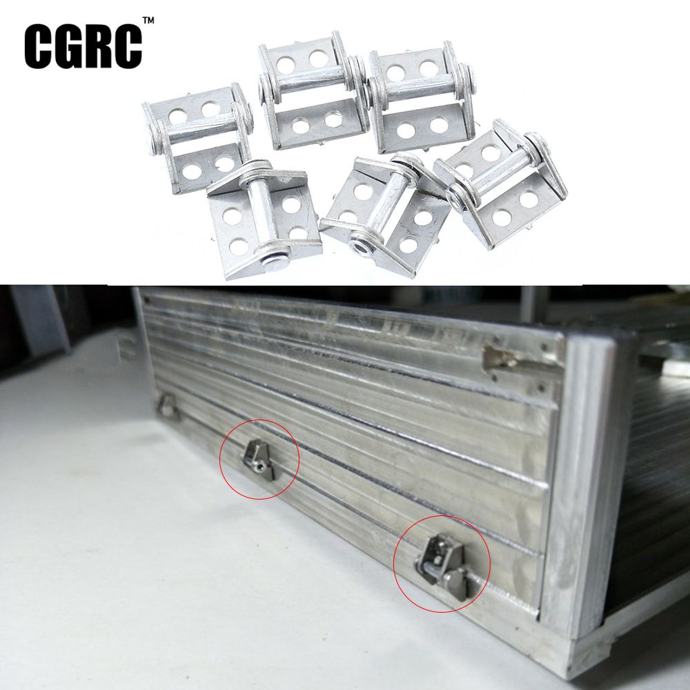 6pcs Metal Trailer Cargo Box Hinge For 1/14 Tamiya RC Truck MAN Benz Scania 1/10 RC Crawler