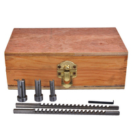 HSS Keyway Broach Set Metric Sized 6pcs 2mm 3mm Broaches 6/8/10 Collared Bushings with Shims CNC Cutting Tools