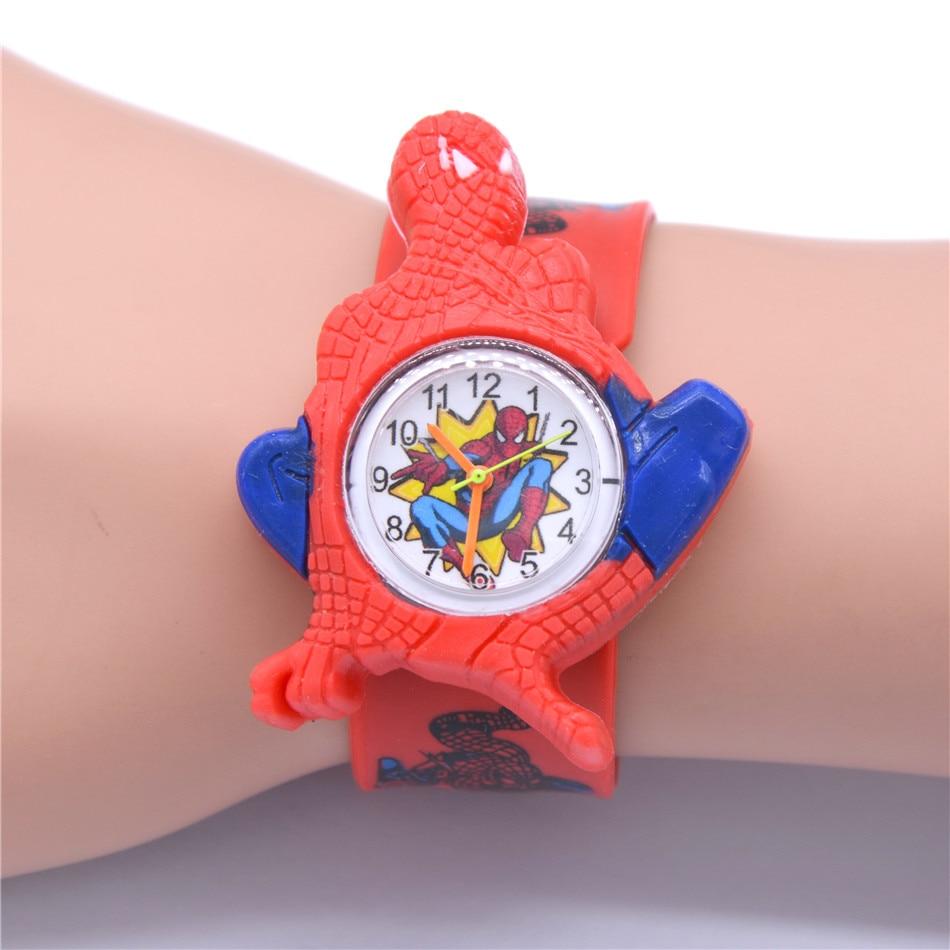 Children's 3D Spiderman Watches For Boys Girls Clock Kids Watch Superhero Spider Man Silicone Children Baby Christmas Gift