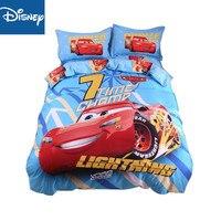 lightning mcqueen car Bedding Set 4PCS Cartoon Duvet Cover Set 5pcs for kids queen single full size flat sheet pillowcase hot