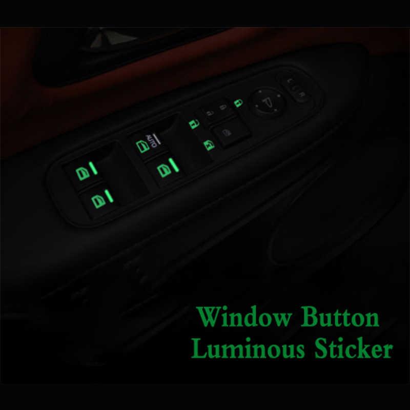 Przełącznik okna samochodu przycisk Luminous naklejka na chevroleta Ford Mazda Cadillac Lexus Acura Lincoln Volvo Jeep Buick VW Car Styling