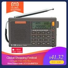 Radiwow R 108 Digitale Draagbare Radio Stereo Fm/Lw/Sw/Mw/Air/Dsp Met Lcd/hoge Kwaliteit Geluid Alarmfunctie Voor Indoor Outdoor