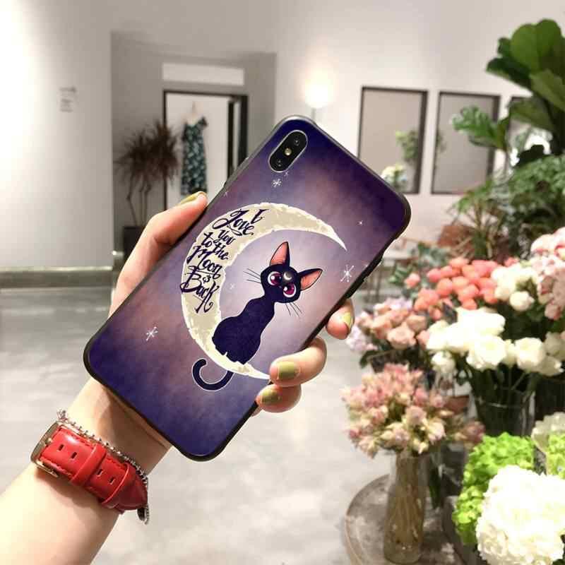 HPCHCJHM sailor moon cat luksusowa unikalna konstrukcja obudowa telefonu dla iPhone 11 pro XS MAX 8 7 6 6S Plus X 5S SE 2020 XR case