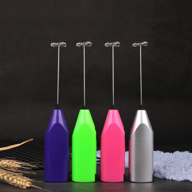 Mini Coffee Blender Hand-held Electric Egg Beater Electric Coffee Stirrer Kitchen Gadget Milk Bubble 5 Batteries