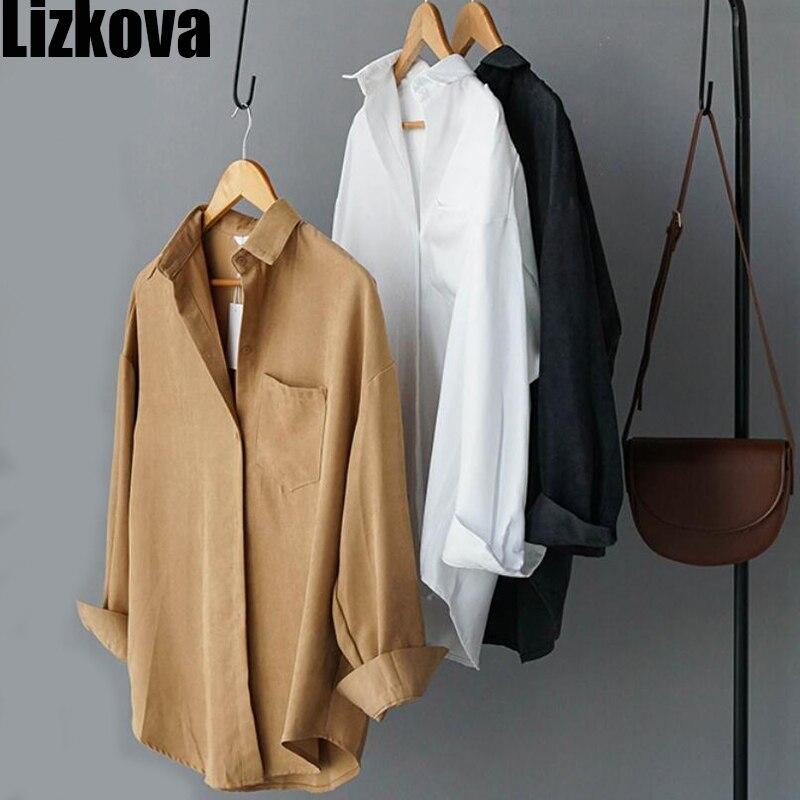 Turn Down Collar Long Sleeve Pocket Shirt 3