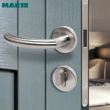 מארי פנים נירוסטה דלת ידית דלת חדר שינה חדר אמבטיה פיצול דלת ידית ביתי אביזרים