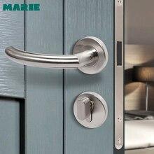 MARIE iç paslanmaz çelik kapı kolu yatak odası kapısı kilidi banyo bölünmüş kapı topuzu ev aksesuarları