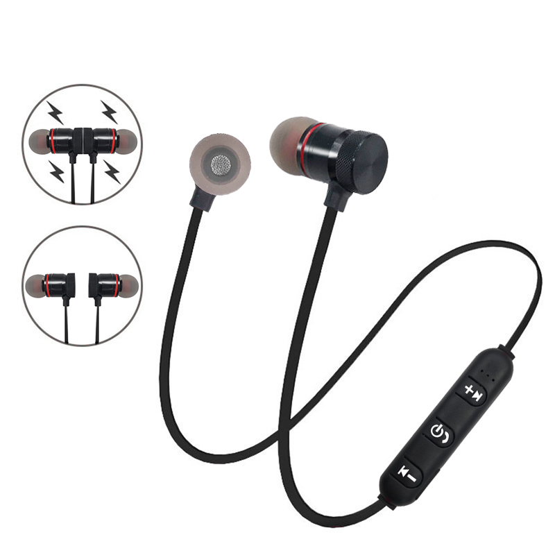 Metal Sports Bluetooth Headphones Sweatproof Wireless Earphone Magnetic Earpiece Stereo Headset For Xiaomi Mobile Phone Bluetooth Earphone Earphone For Samsungmagnetic Earpiece Aliexpress