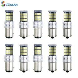 10pcs high bright led car bulb S25 1156 ba15s p21w 1157 bay15d py21/5w canbus led turn signal lamp w21/5w p27/7w brake light 12V