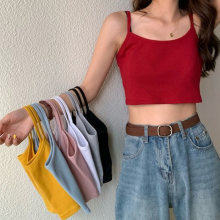 New Fashion Women Sexy Solid Summer Camis Crop Top canottiere Casual femminili canottiera senza maniche Cool Streetwear Club High Street