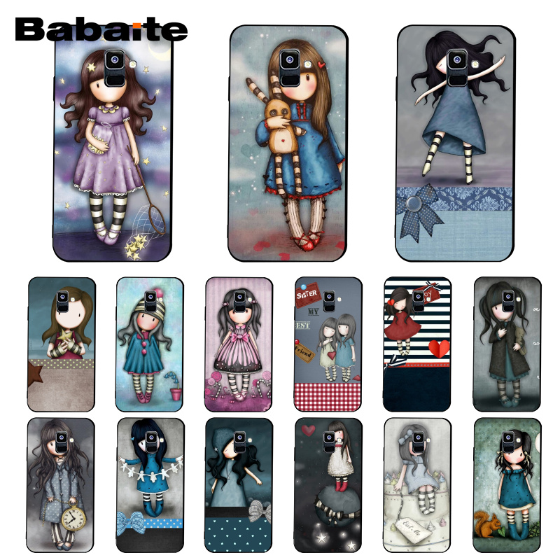 Babaite Cartoon Lovely Santoro Gorjuss Phone <font><b>Case</b></font> For Samsung Galaxy A7 A50 A70 A40 A20 A30 A8 A6 A8 Plus A9 2018 image