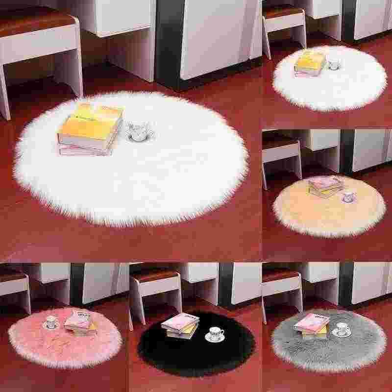 인공 모직 따뜻한 털이 카펫 좌석 Textil 모피 지역 양탄자 부드러운 작은 인공 양모 깔개 의자 커버 침실 매트