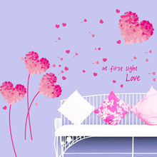 Объемная Съемная настенная картинка с изображением любовных