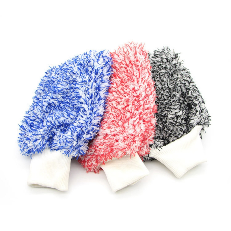 Hot Soft Absorbancy Glove High Density Car Cleaning Ultra Soft Easy To Dry Auto Detailing Microfiber Wash Mitt Cloth Towel