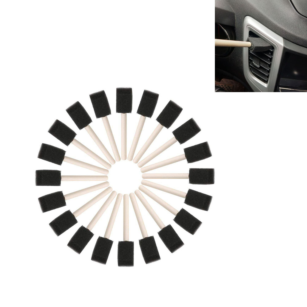 5Pcs/set Car Air Conditioner Vent Brush Car Grille Cleaner Auto Detailing Blinds Duster Brush Car-styling Auto Cleaning