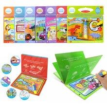 Многоразовая Волшебная водная книга для рисования, раскраска, каракули и волшебная ручка, рисование, доска для рисования для детей, обучающая игрушка, подарок на день рождения