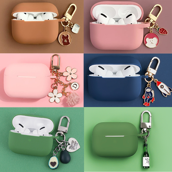 For AirpodsPro Case Cute Bear keychain Silicone Bluetooth Wireless Earphone Apple AirPods3 cover