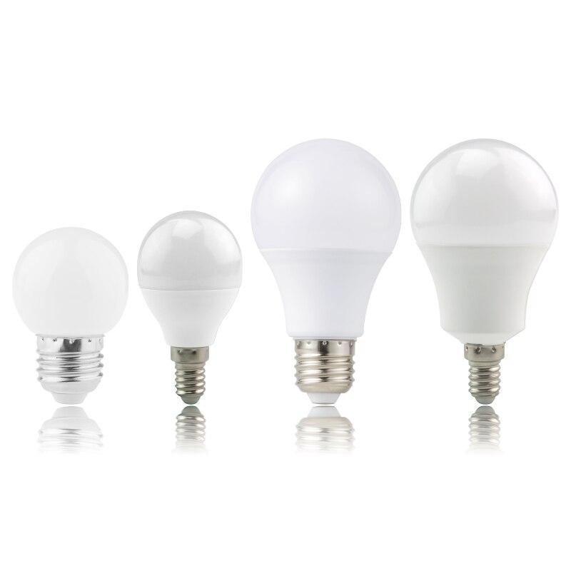 2pcs Lampada Led E27 E14 Light Bulbs 3W 6W 9W 12W 15W 18W 20W  LED Lamp AC 220V -240V Bombillas LED Spotlight White/Warm White