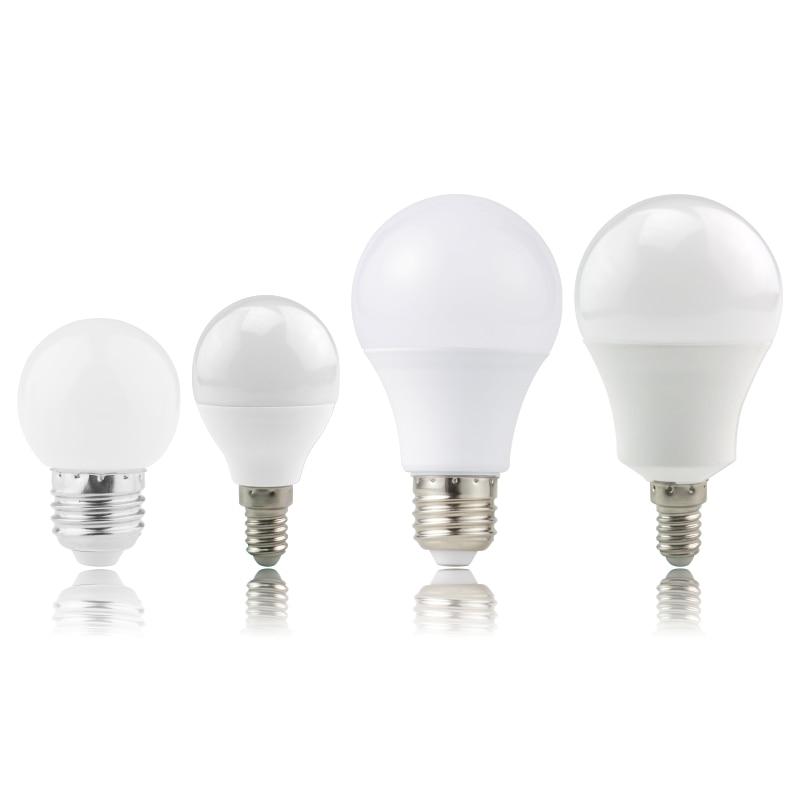 Lampada Led E27 E14 Light Bulbs 3W 6W 9W 12W 15W 18W 20W  LED Lamp AC 220V -240V Bombillas LED Spotlight White/Warm White