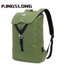 Backpack Notebook Usb-Charge School-Rucksacks 618 KINGSLONG Travel-Bags for Trip Laptop