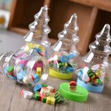 1 бутылка мини Ластик Kawaii Канцелярские товары для студентов Рождество Санта дерево милый фрукты утка животное творческие подарки для детей цвет случайный