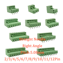 10/5 Pairs Pitch 5.08mm Terminal Block Connector 2EDG 5.08mm 2-12 Pin Pcb Screw Connector Terminal Block 2EDG Socket PCB Screw