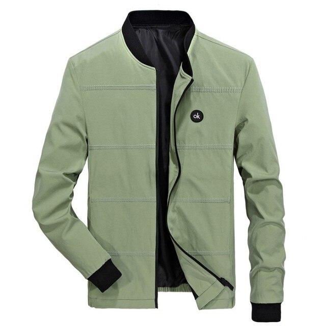 Spring Jackets Mens Pilot Bomber Jacket Male Fashion Baseball Hip Hop Coats Slim Fit Coat Brand Clothing 3