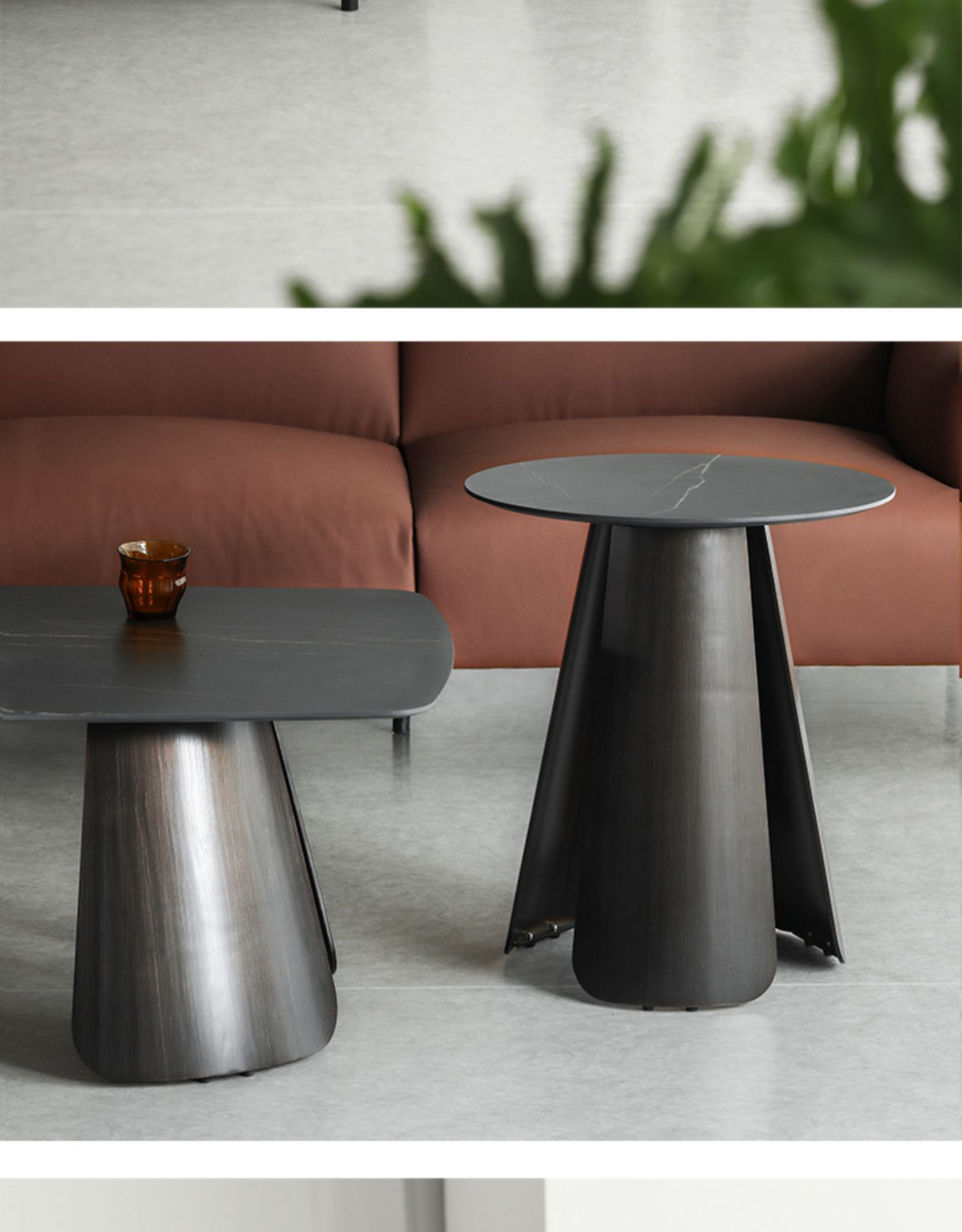 Луи Мода журнальные столики современный простой дизайн сланец железа маленькая семья гостиная сторона