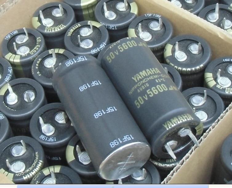 2pcs Japan NIPPON AUDIO YAMAHA 5600uF/50V 22x50mm Chemicon Electrolytic Capacitor 50V5600UF CHEMI-CON 50V 5600UF