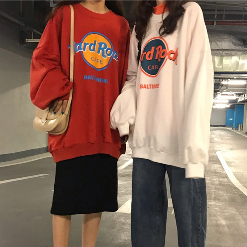 Oversized Hoodie Women Sweatshirts Long Sleeve Hoodies Casual Letter Print Loose Pullovers Harajuku Sweatshirt Female Sudaderas