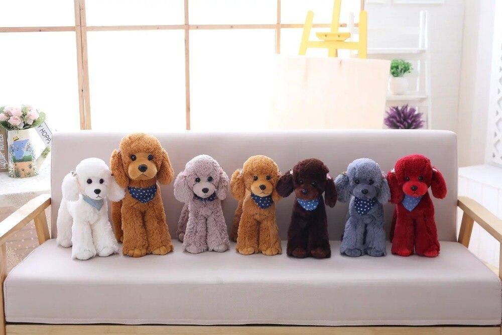 Cute Poodle Teddy Dog Simulation Stuffed Animal Plush Toy Girls Birthday Gift Home Decoration
