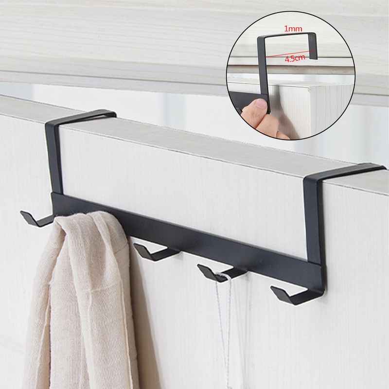 Practical Wrought Iron Door Hook Wall Hanger 5 Hooks Bearing Hat Durable Kitchen About 5kg Towel Hat Clothes Wall Hook Over Door