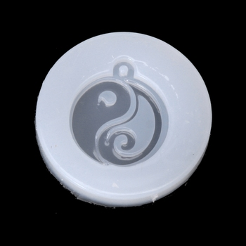 Chinese Style Tai-chi Jade Pendant Buddhism Silicone Mold Resin DIY Jewelry Mold image