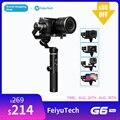 FeiyuTech G6 плюс 3-осевой Карманный Стабилизатор Для беззеркальных Камера карман Камера GoPro Smartphone Полезная нагрузка 800g Feiyu G6P