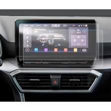 Lfotpp pet protetor de tela para leon mk4 navi sistema 10 Polegada 2020 carro multimídia rádio exibição auto acessórios interiores 2 pcs