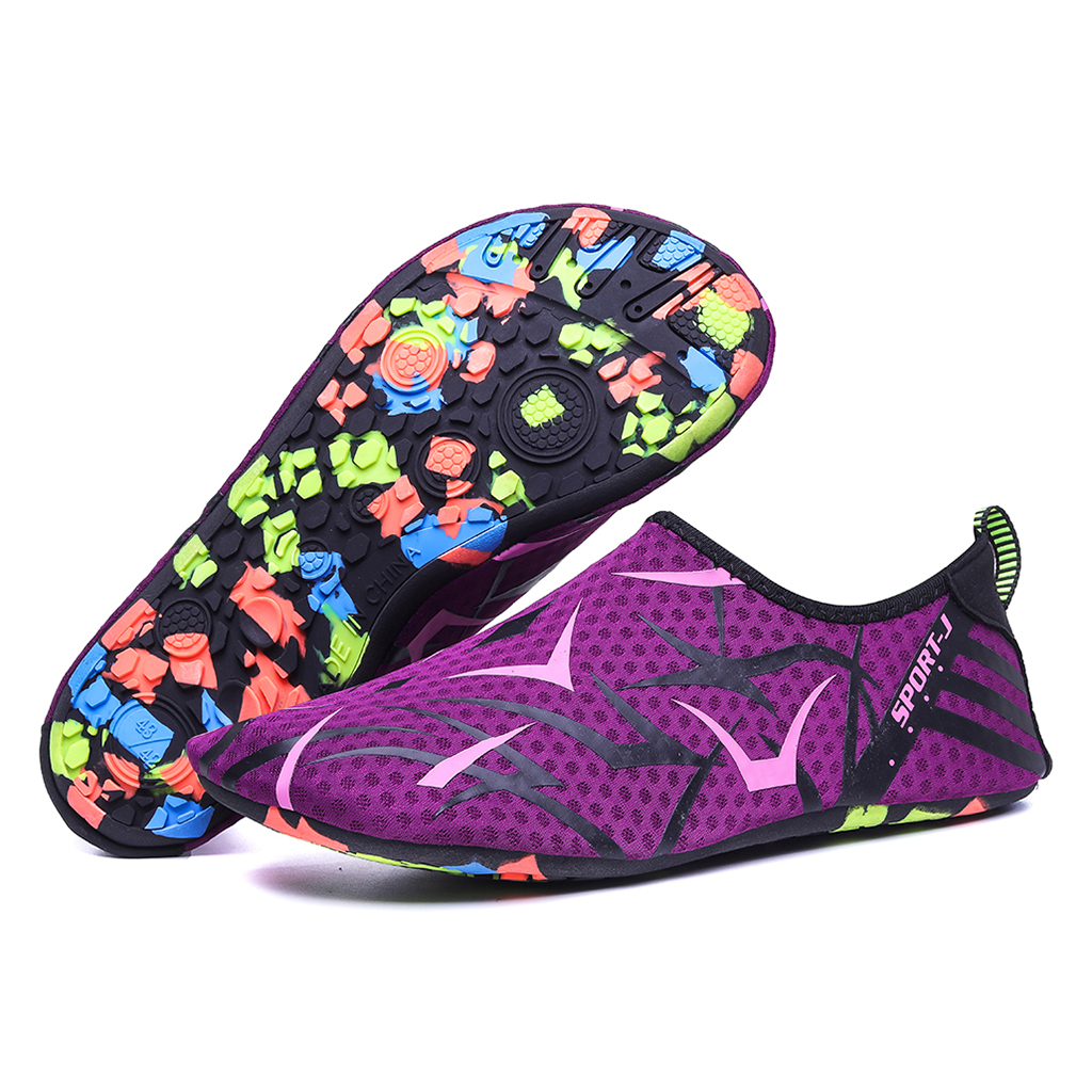 Women Men Water Shoes Barefoot Quick-Dry Aqua Socks Slip-on Beach Swim Diving Swimming Fins For Water Sports