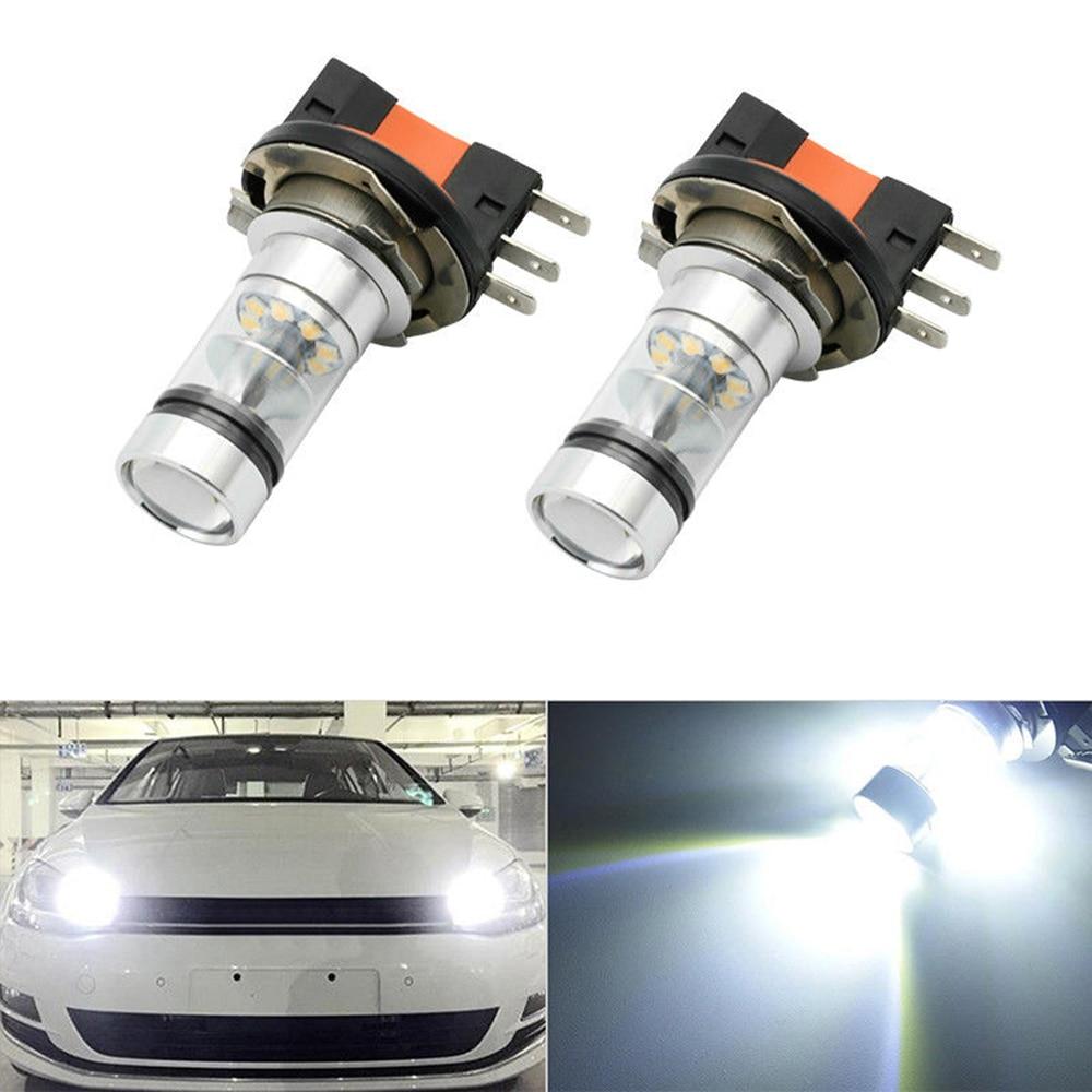 2 шт./компл. Универсальный налобный фонарь H15 100 Вт Светодиодный светильник дневного света лампы высокого качества Автомобильный светодиодн...