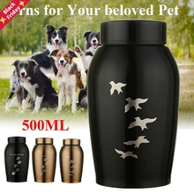500ml Memorials Urns Pets Dog Cat Birds Paw Print Cremation Urn for Cats Dogs Small Animals