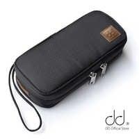 DD C-2019 (negro) funda de transporte de alta fidelidad personalizada para audiófilos, bolsa de almacenamiento de auriculares y cables, funda protectora para reproductor de música.