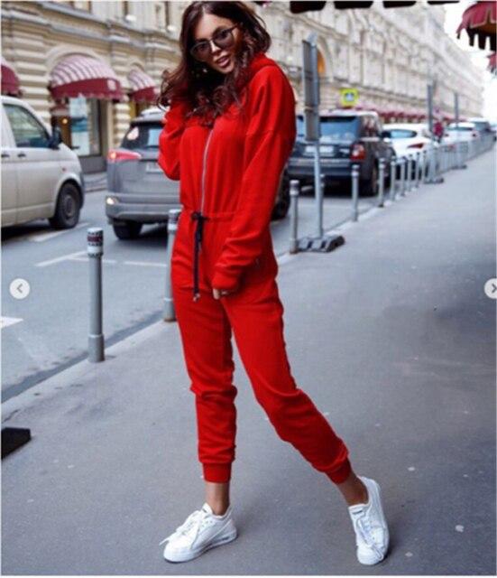 New Fashion Women Sexy Jumpsuit Long Sleeve High Waist Jumpsuit Hoodies Street Wear Drawrsing Jumpsiut Romper Long Trousers 4