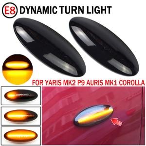 Image 2 - 2 sztuk LED dynamiczny kierunkowskaz światło obrysowe boczne sekwencyjne migacz światło do toyoty Yaris COROLLA Auris Mk1 E15 RAV4 Mk3