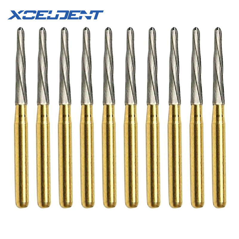 10Pcs Dental Endodontic Polishing Bur Drills Tungsten Carbide FG Endo-Z 21mm/25mm/28mm