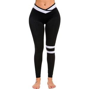 Image 4 - Женские длинные Леггинсы пуш ап, с высокой талией, для фитнеса, для тренировок